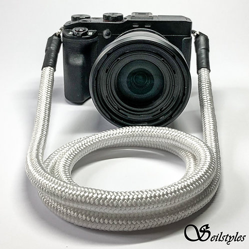 """Kameraseil Trage/Schultergurt für alle Kamerahersteller """"Farbe weiß"""" 10mm"""
