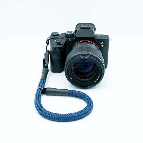 Handschlaufe Trageschlaufe für alle Kameratypen marineblau 10mm/6mm Peak