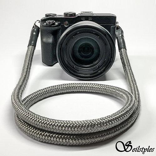 """Kameraseil Trage/Schultergurt für alle Kamerahersteller """"Farbe grau"""" 10mm"""