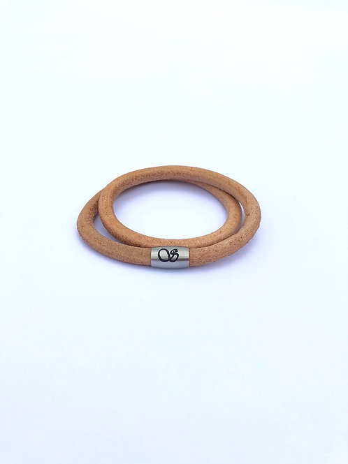 Handgefertigtes Magnetarmband 6mm NATURLEDER