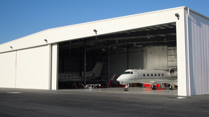 Private airline hangar