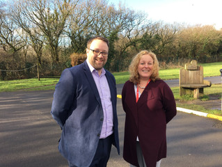 MP Welcomes New Headteacher to Tondu Primary