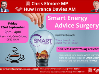 Ogmore MP and AM to Hold Smart Meter Advice Event