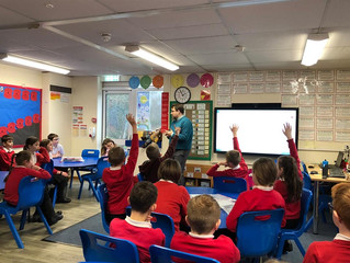 Ogmore MP Gets A Grilling From Llanharan Primary School Pupils