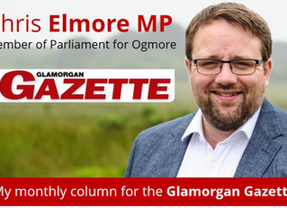 My Glamorgan Gazette Column - March 2018