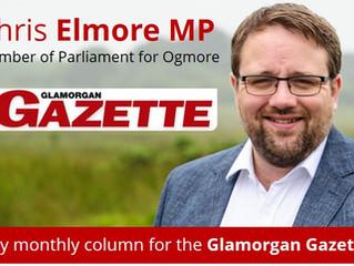 My Glamorgan Gazette Column - October 2017