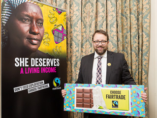 Chris Elmore Supports Fairtrade Foundation's #SheDeserves Campaign