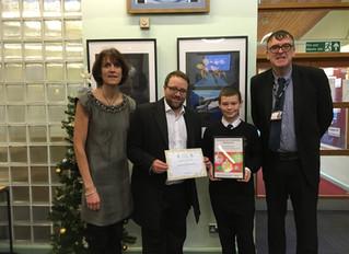 Chris Elmore MP Congratulates Christmas Card Competition Winners