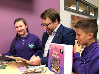 """Ogmore MP Visits """"State Of The Art"""" New School In Bettws"""