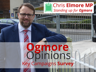 """Give Me Your Ogmore Opinions!"" – Chris Elmore MP"