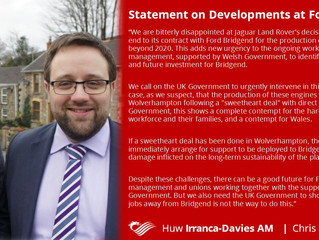 Joint Statement on Developments at Ford, Bridgend