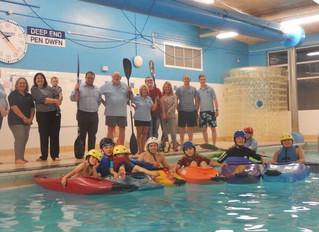Maesteg Canoe Club Show Off Their Skills to Local MP