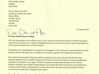 Welsh Secretary Fails to Respond to Rail Concerns From Welsh MPs