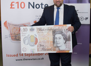 Chris Elmore MP Gets Preview of New £10 Note