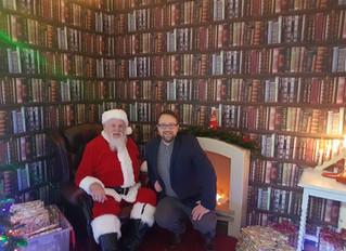 Local MP Gets into the Festive Spirit in Llanharan