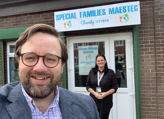"""Local MP praises """"incredible work"""" of local Maesteg charity during pandemic"""