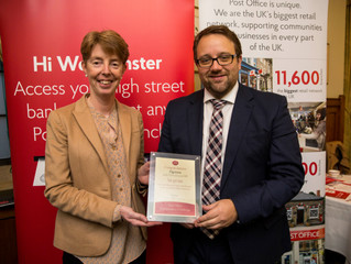 Chris Elmore MP Accepts Post Office Award on Behalf of Ogmore
