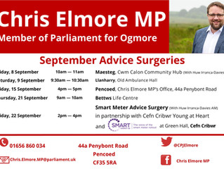Chris Elmore MP Promotes September Advice Surgeries