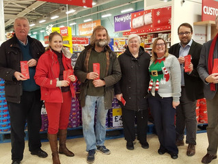 Local MP and AM Lend a Hand at Local Food Collection