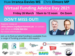 Ogmore MP and MS to hold fifth annual funding advice day