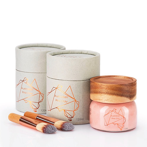 2 Jars of Australian Pink Clay Mask 120ml
