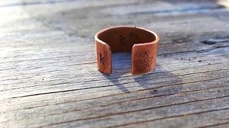 Custom Monogram Copper Ring