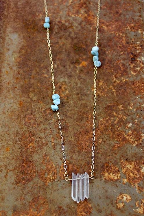 Larimar & Quartz Necklace