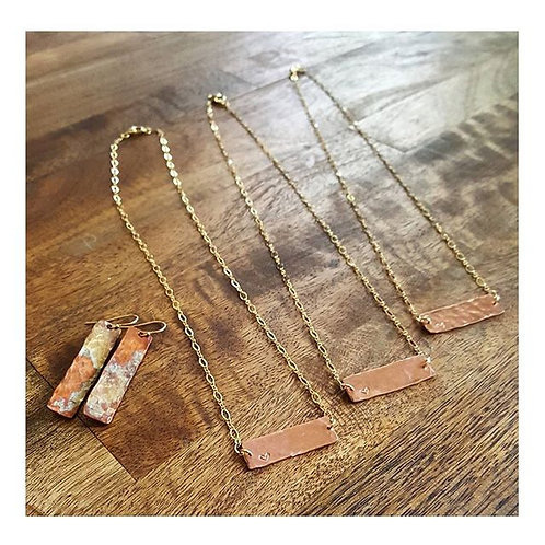 Bar Necklace w/ Heart