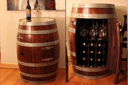 The Wine Shrine. Beatiful Refinished Wine Barrel Cabinet ...