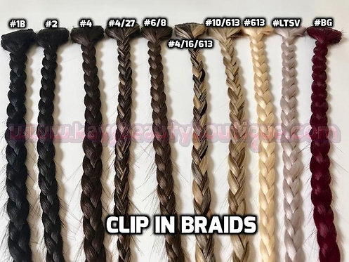 Clip-in Braids 100% Human hair