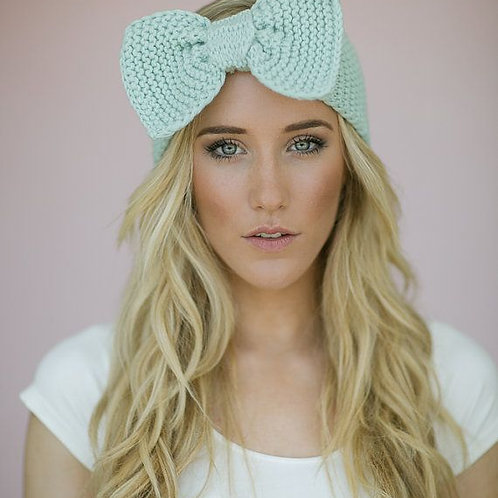 Knitted Head Band- BOW