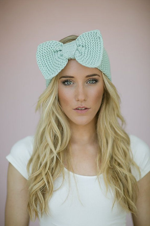 Bow Knitted Head band