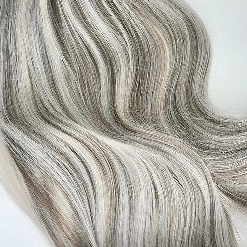 Clip-in #Silver/Ash Brown Mix