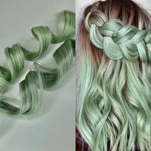 100% Human Hair Mint Strip Clip-in extensions 1pc