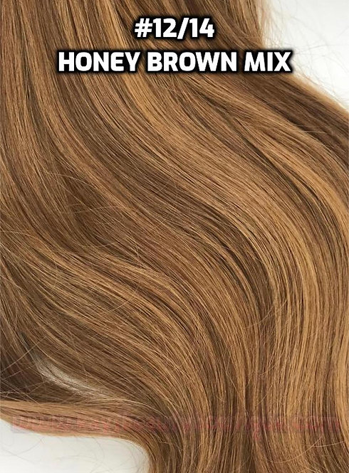 Clip-in #12/14- Honey Brown Mix