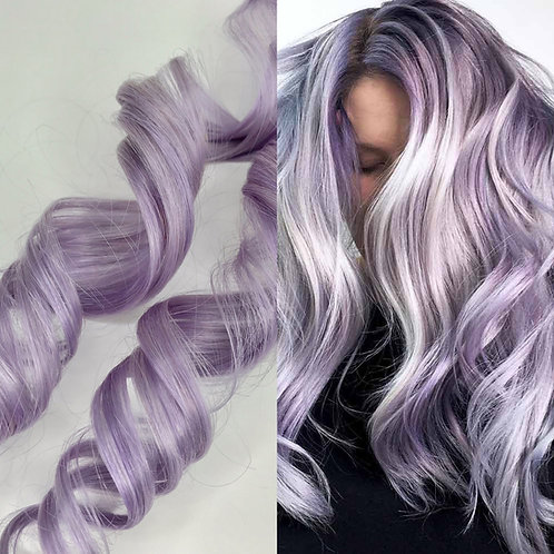 100% Human Hair Lavender Strip Clip-in extensions 1pc