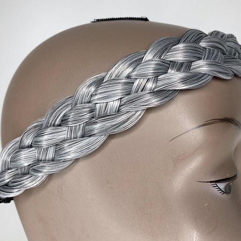 #Salt&Pepper/Gray WIDE Braided Headband