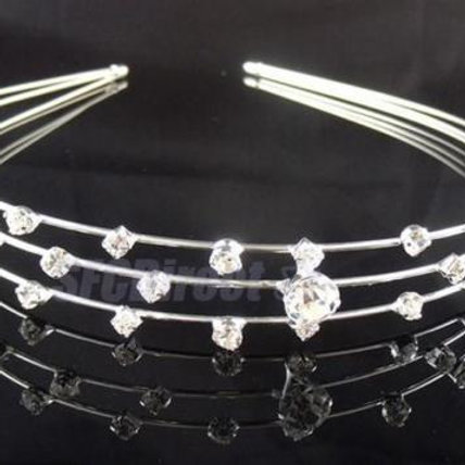 3 Row Crystal Head band