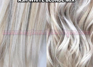 ASH WHITE BLONDE MIX HAIR EXTENSIONS