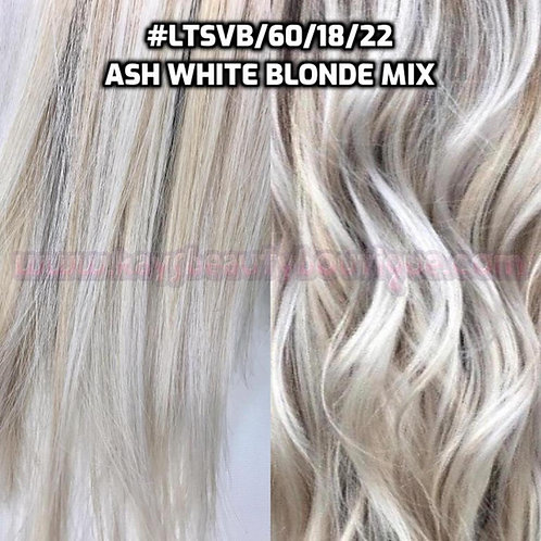 Flip-in(HALO) #LTSVB/60/18/22- Ash White Blonde Mix
