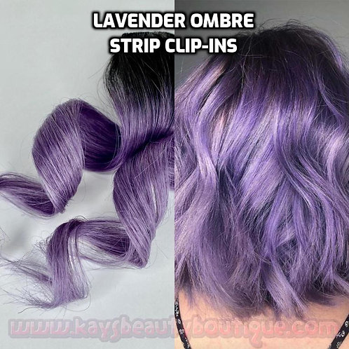 100% Human Hair Lavender Ombre Strip Clip-in extension