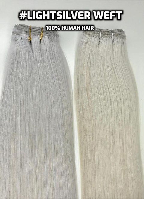 #Light Silver/Grey Weft