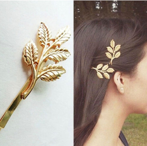 Gold Leaf Hair pins(a pair)