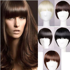 Straight-across style- Clip-In Bang