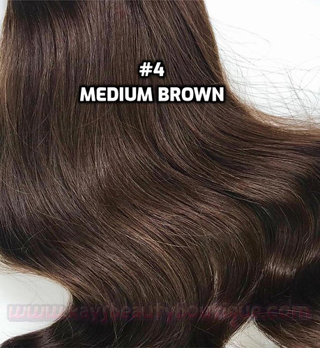 Clip-in #4- Medium Brown