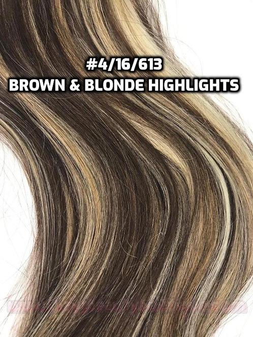 Flip-in(HALO) #4/16/613-Brown & Blonde Highlights