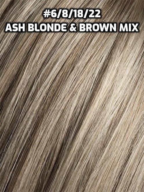 Flip-in(HALO) #6/8/18/22-Ash blonde+Ash brown mix