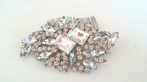 Rectangle Crystal Hair comb