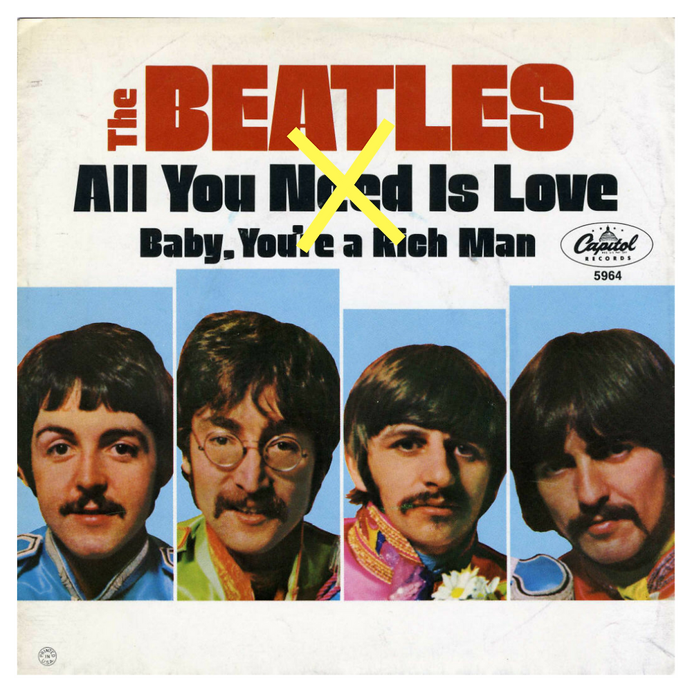 """All You Need Is Love"" Album Cover by The Beatles"