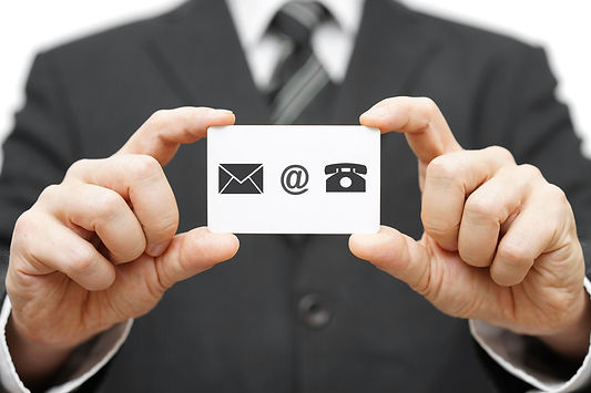 Businessman Hold Business Card With Email,mail, Phone Icon. Contact Us.jpg
